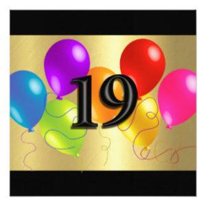 ברכות ליום הולדת 19
