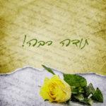 תודה רבה,פרח,צהוב,מכתב
