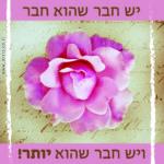 ברכה לחבר, פרח