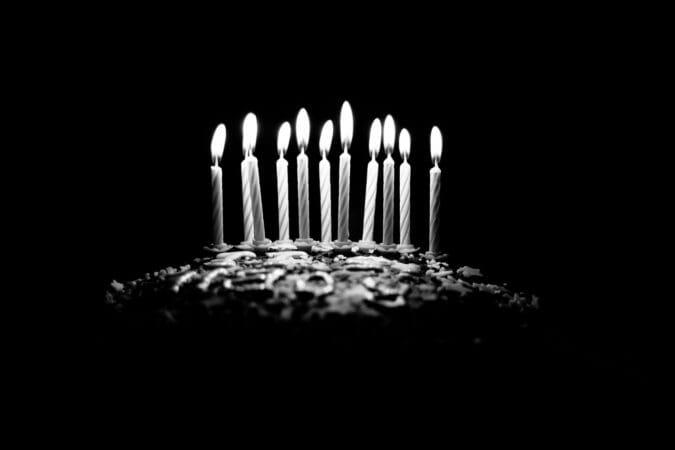 תמונות ליום הולדת שחור לבן