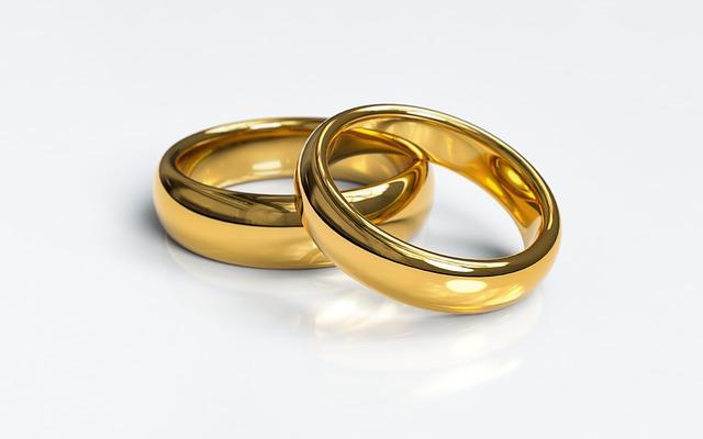 טבעת נישואים,ברכה לחתן וכלה