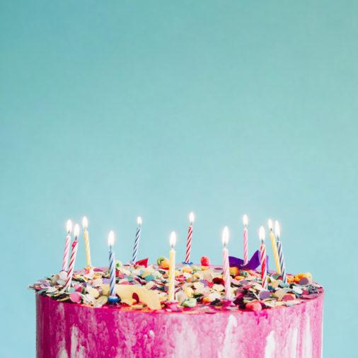 עוגת יום הולדת,נרות יום הולדת